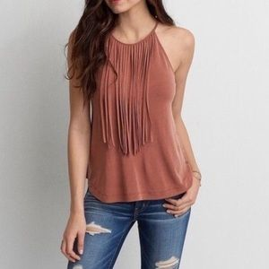 American Eagle soft and sexy fringe top